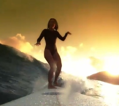 daily video: beautiful surfing in Byron Bay with Jorgelina Reyero